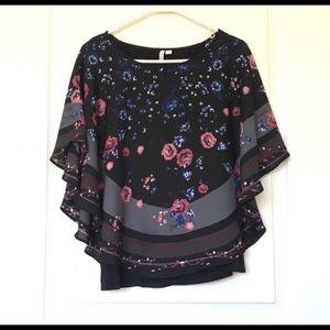 Elle Women's Size M Floral Top🌼🌸